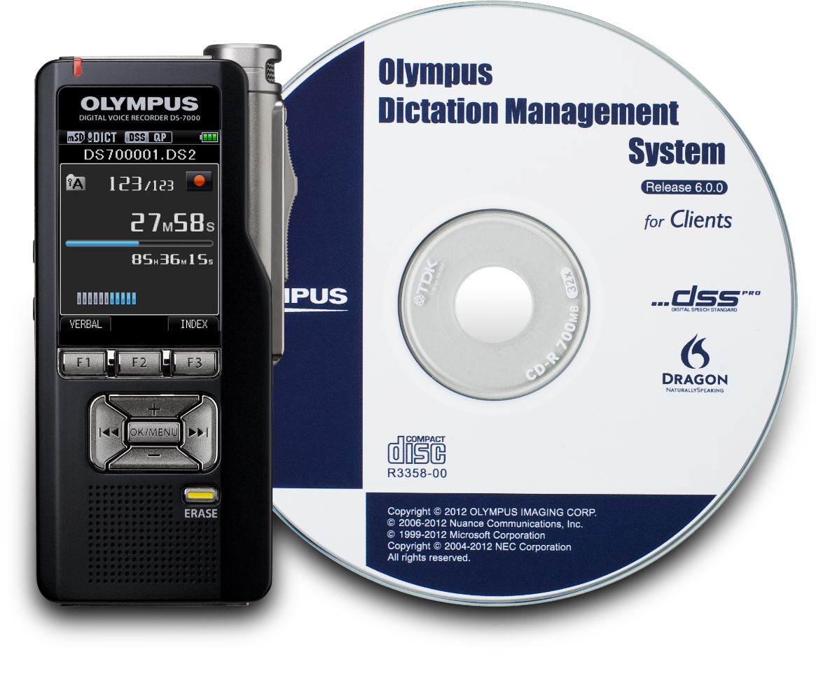 ODMS software CD-ROM with handheld recorder